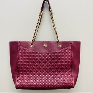 [tory burch] Quilted Bryant Leather Tote Bag